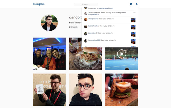 Instagram adds a notification tab to its web interface