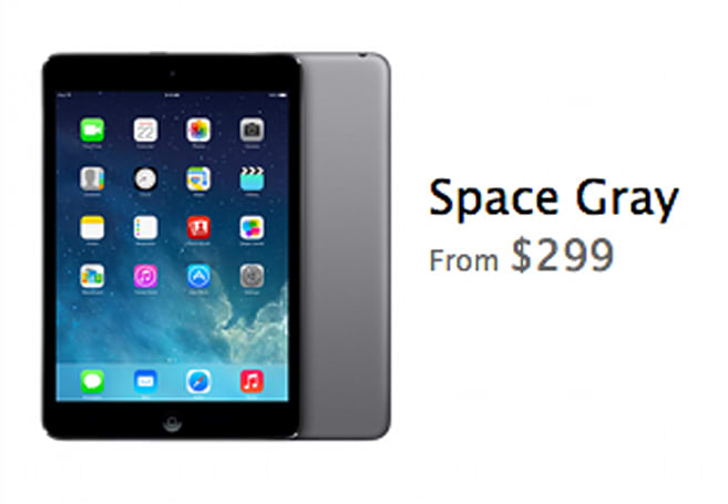 Space Gray iPad mini showing up in stores