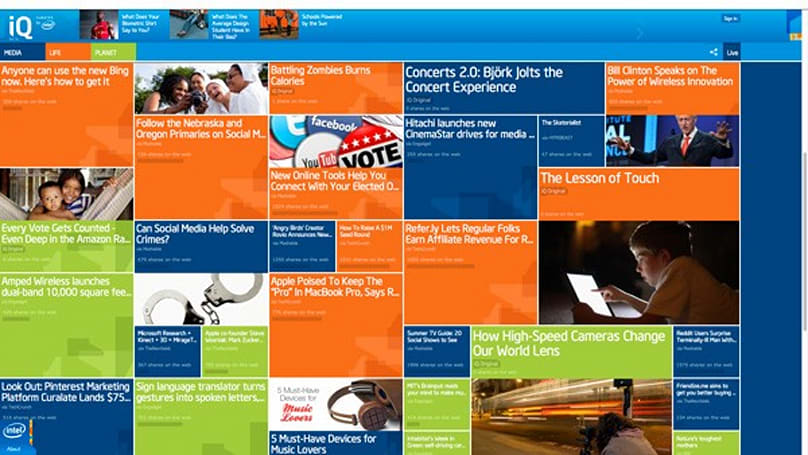 Intel launches youth-focused iQ webzine, tells its brand story through aggregation
