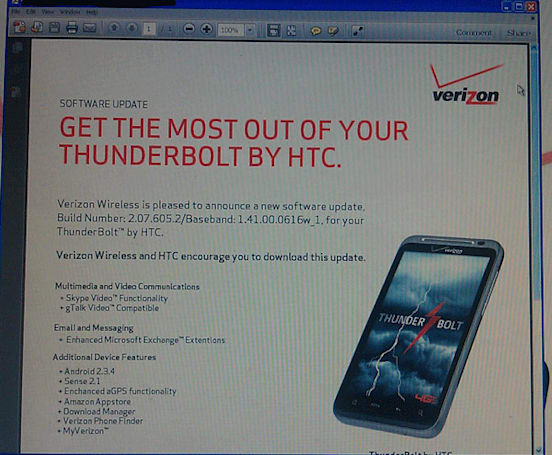 VZW leak teases HTC Thunderbolt update: Skype Video, Android 2.3.4 coming June 30th?