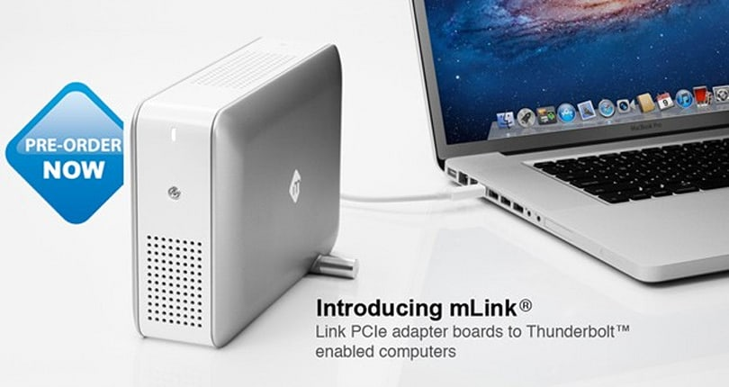 mLogic's mLink Thunderbolt chassis shipping this month, Red Rocket board version to follow
