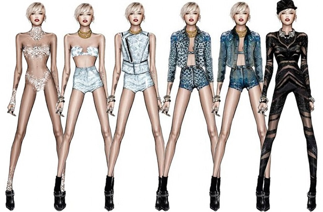 Roberto Cavalli reveals revealing Miley Cyrus tour costumes