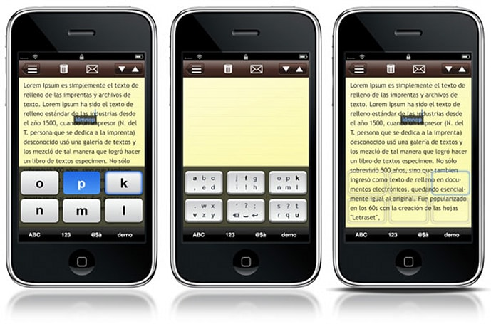 Tiki'Labs virtual keyboard for iPhone takes shot at Swype, one-handed typing wars commence