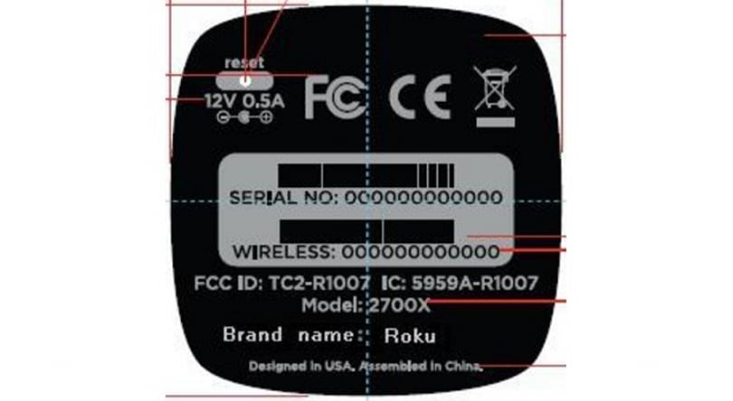 Roku 2700X set-top box surfaces at the FCC with basic specs