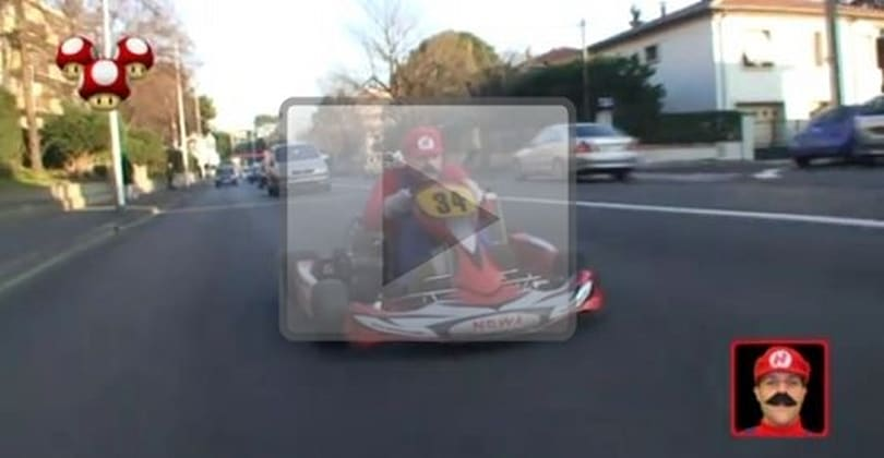 Real-life Mario Kart prankster returns to the track