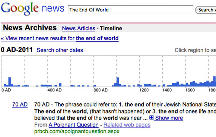 Google News Archives stops digitizing old newspapers, picks great day to do it