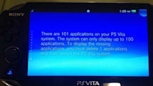 Report: PS Vita with 32GB memory card can display 100 apps, no more