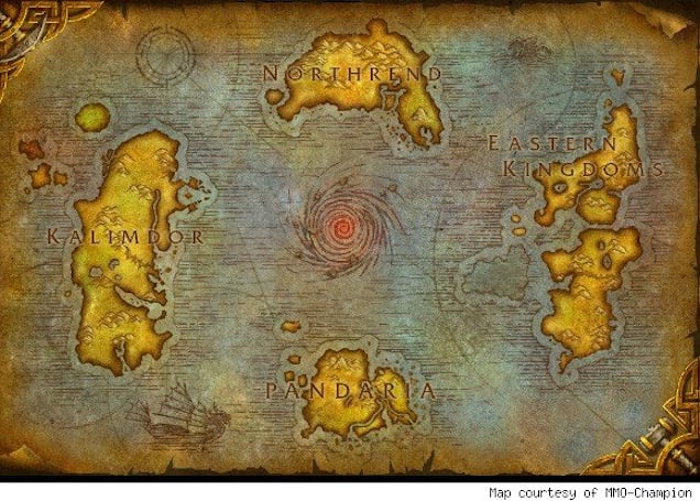 Pandaria makes its appearance on the world map