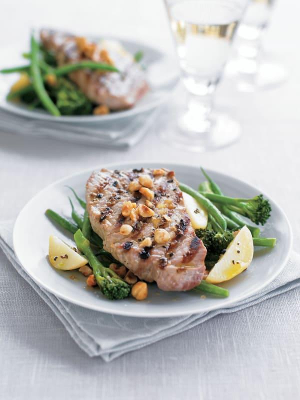 Tuna with Green Beans & Broccoli recipe
