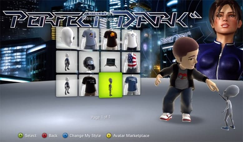 Perfect Dark, Alan Wake items now in Avatar Marketplace
