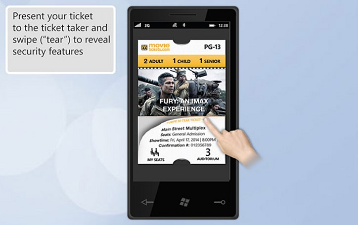 New smartphone movie tickets don't require a scanner