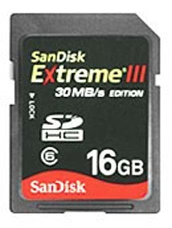 SanDisk Extreme III SDHC cards hit 30MB/s