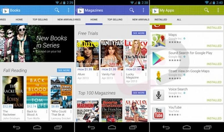 Early leak shows what Google Play version 4.0 might be (video)