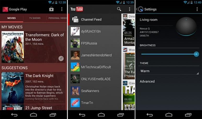 Google updates YouTube, Nexus Q and Play Movies & TV apps in one fell swoop