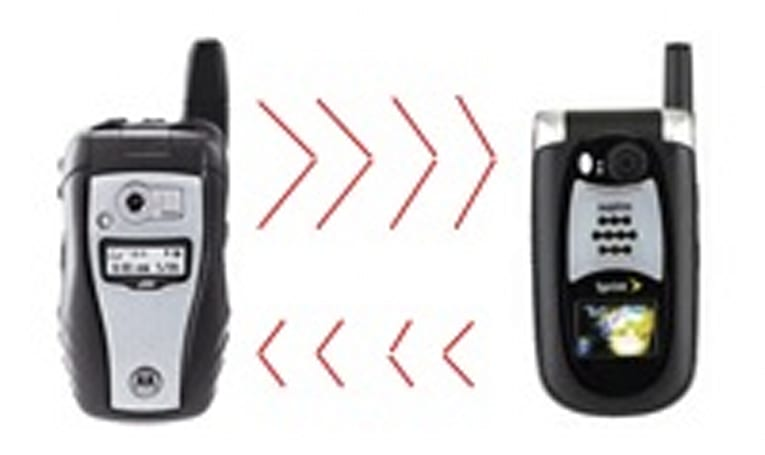 Sprint links both its networks for walkie-talkie call