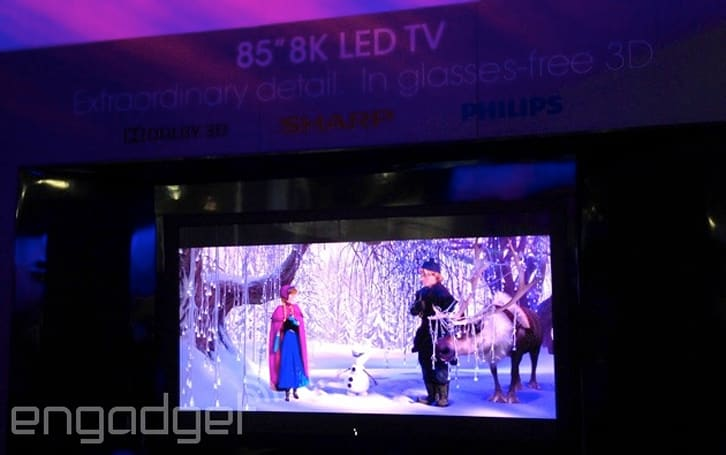 Here's Sharp's 85-inch 8K TV with glasses-free 3D