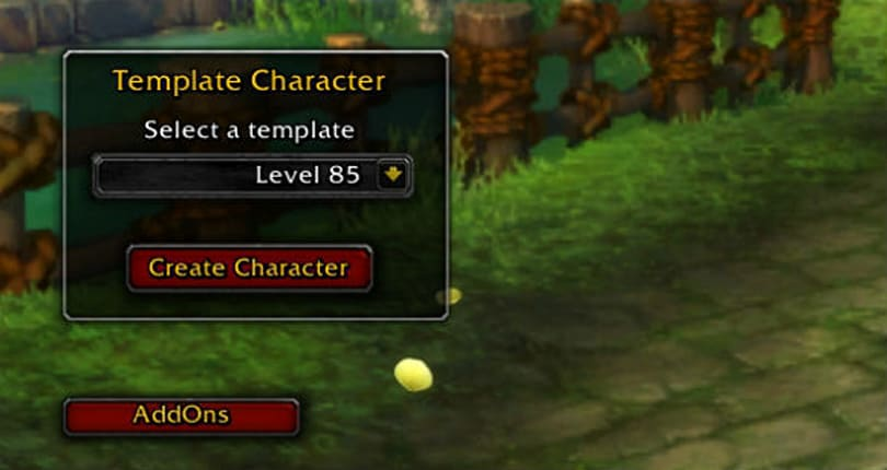 Level 85 premade characters now creatable in beta