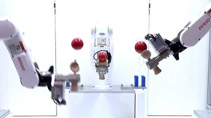 【動画】けん玉ロボ、世界一周なるか!? けん玉の担い手がロボットに変わる日。高校生プログラマー × デンソー産業ロボット