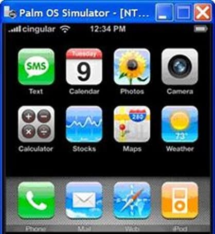 iPhony launcher for Palm OS