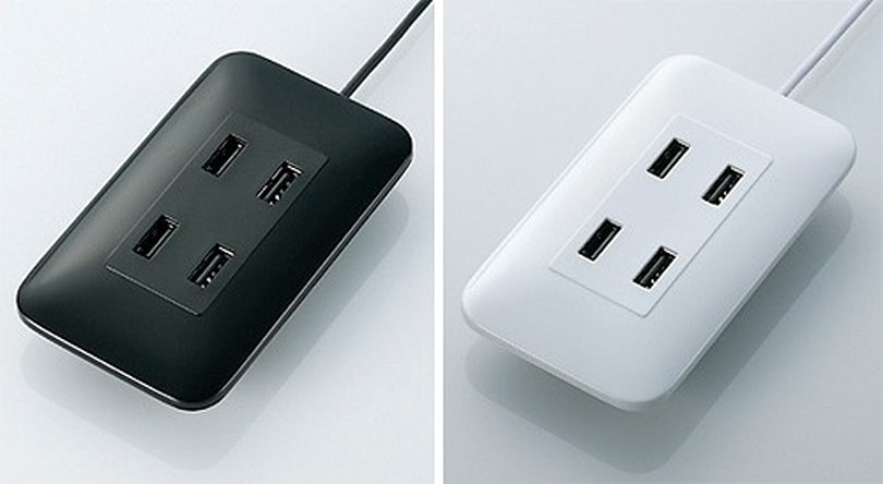 Elecom keeps things simple with U2H-TC410B wall socket USB hub