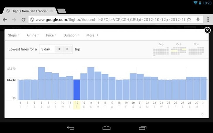 Google optimizes Flight Search for tablets, makes booking trips easier