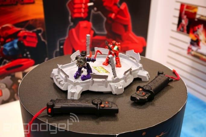 Motion-controlled Battroborg Warriors deliver armed robot combat