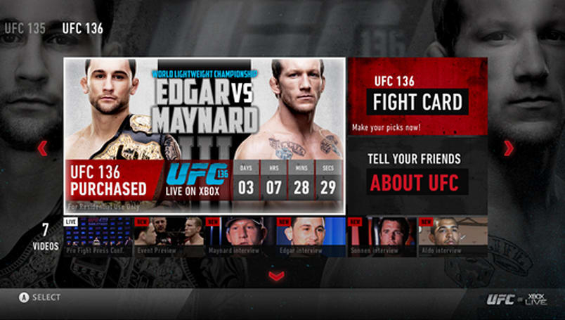UFC on Xbox Live: Full-access octagon