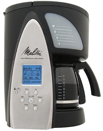 Melitta ME1MSB Smart Brew Coffeemaker gives you the weather