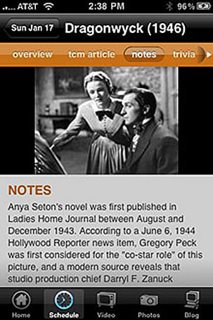 For all the movie buffs out there, here's TCM on your iPhone