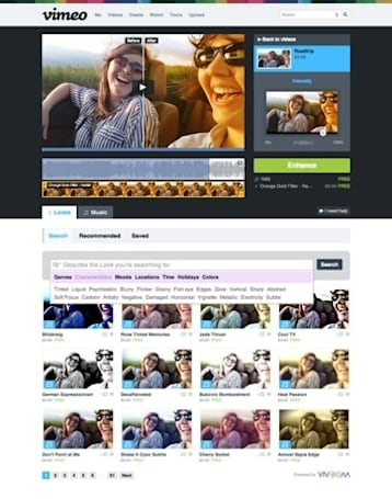 Vimeo announces 'Looks' feature, now lets users add visual effects to videos