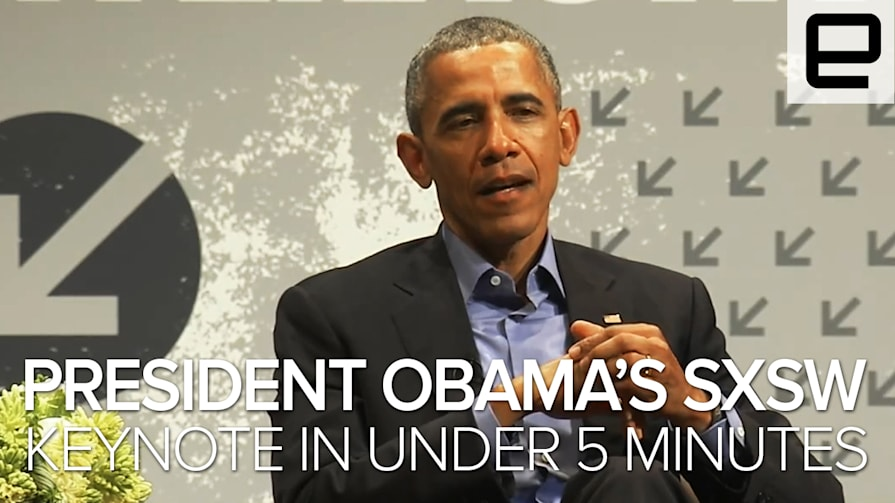 President Obama's SXSW Keynote in Under 5 Minutes