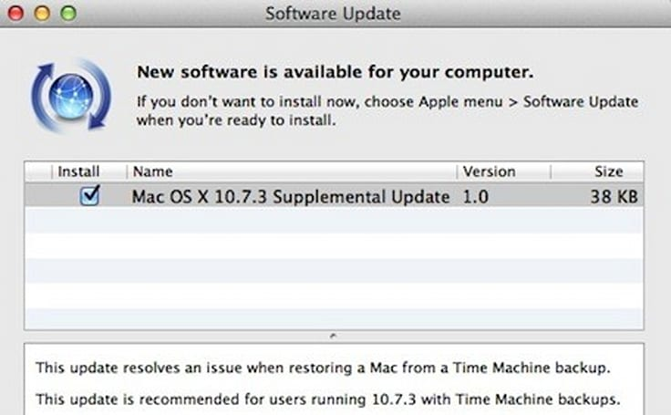 OS X 10.7.3 Supplemental Update released by Apple