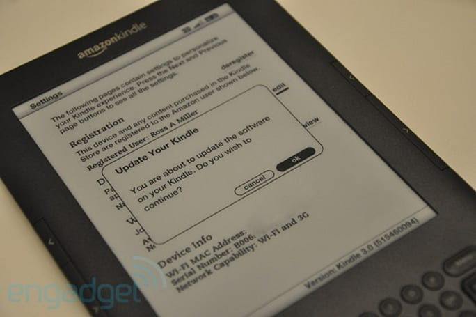Early third-generation Kindle software update improves web browser, provides new way to feel e-litist