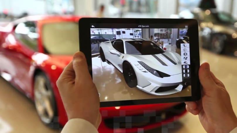 Ferrari's AR showroom app delves inside your next supercar