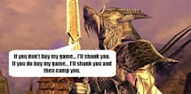 Sell Darkfall to your friends, get paid and get more n00bs to shank
