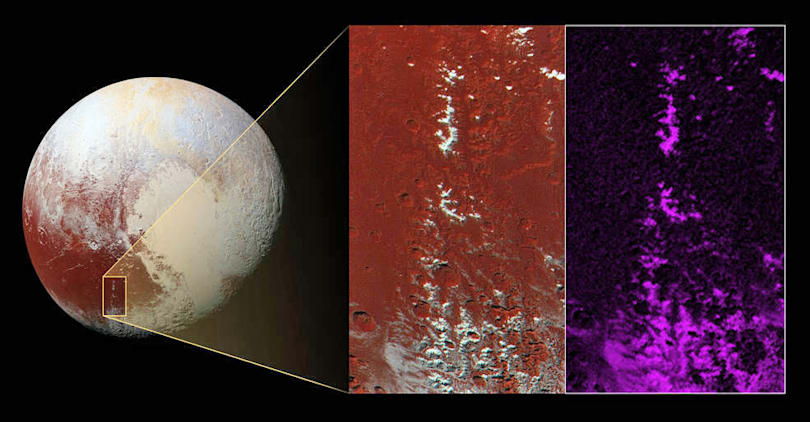 New Horizons spots snowcapped peaks on Pluto