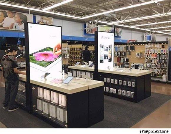 Photos of Apple's store-within-a-store at Walmart