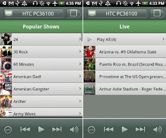 Orb Live finally lands for Android: streams video, delivers Hulu without the Plus