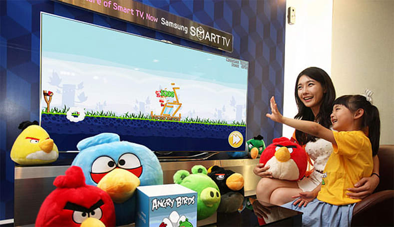 Angry Birds land on Samsung Smart TVs, wage war with gestures
