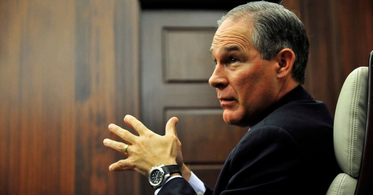 Trump's EPA Pick Slammed State AGs For Trying To 'Police The Global Warming Debate'