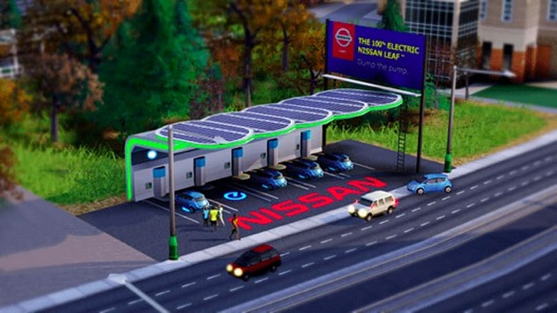 SimCity DLC is a Nissan Leaf ad