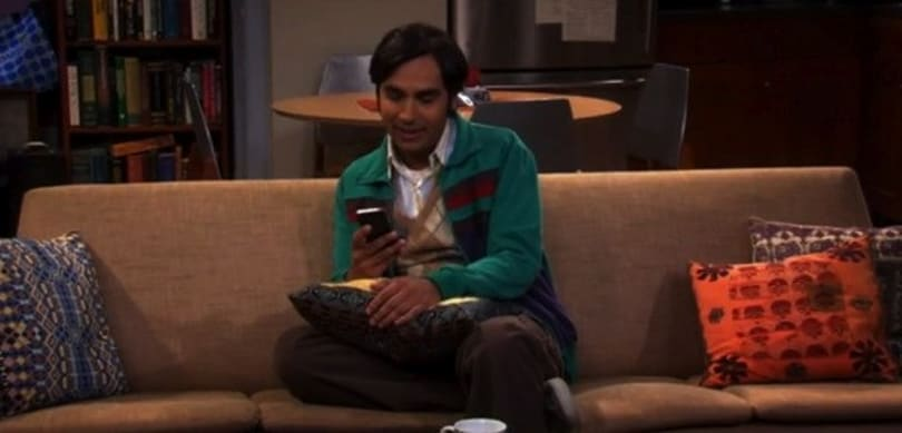 Screen Grabs: Big Bang Theory's Raj falls head over heels... for Siri (video)