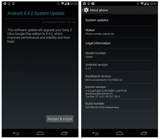 Latest Android update for the Sony Z Ultra Google Play Edition fixes major bugs