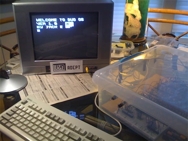Jack Eisenmann's DUO Adept: a homebrew 8-bit computer built by a high-schooler (video)