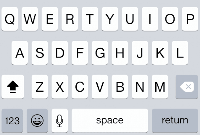 Easy capitalization using iOS 8's predictive typing