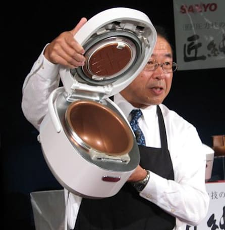 Sanyo showcases uber-pricey IH rice cooker