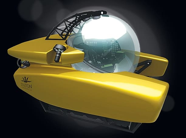 Triton 36,000 submarine to plumb ocean's deepest depths, comes in yellow (video)