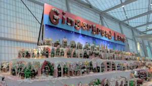 See the World's Largest Gingerbread Village