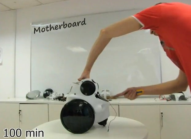 See a Qbo robot built from scratch in a minute-and-a-half (time-lapse video)
