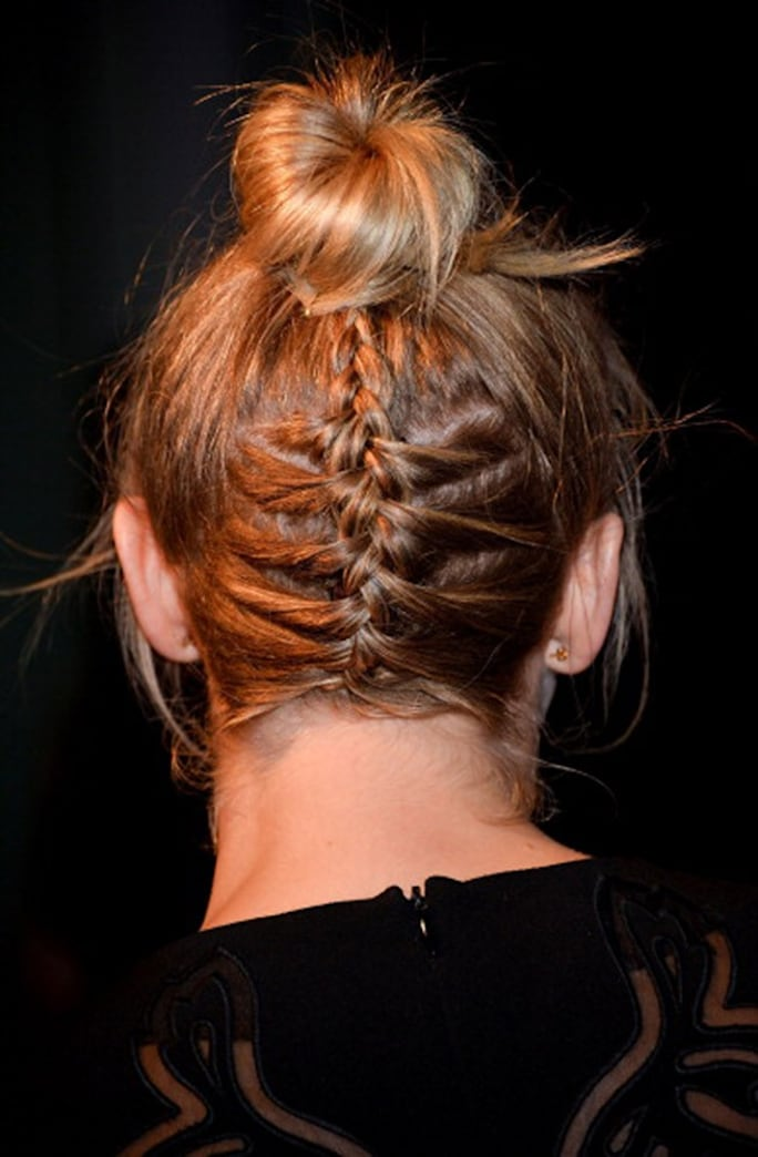 Look of the week: Julianne Hough's braided bun is perfect for short hair